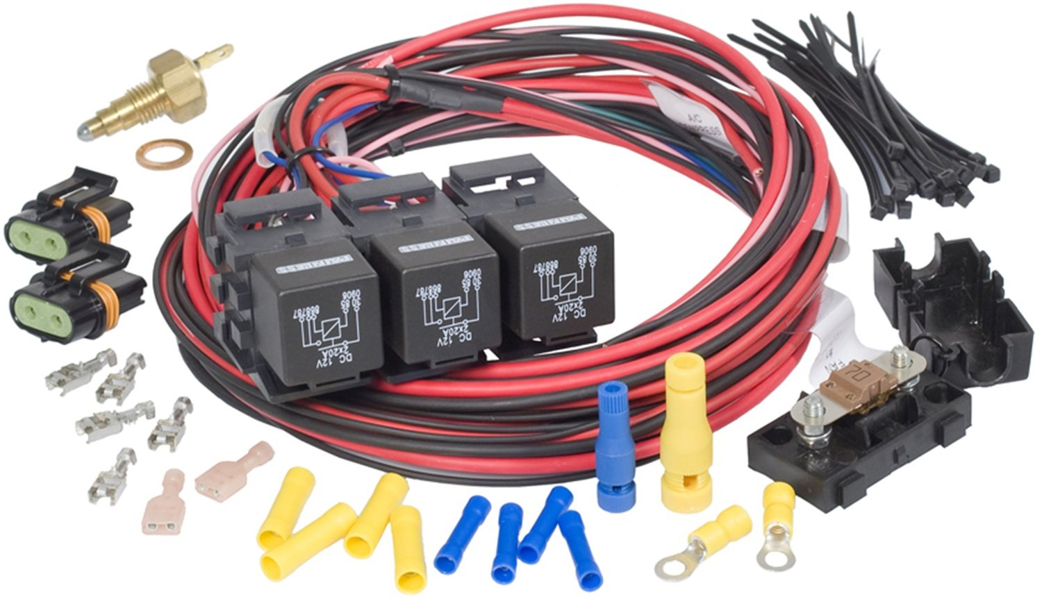 Painless 30118 Dual Activation Dual Fan Relay Kit by Painless