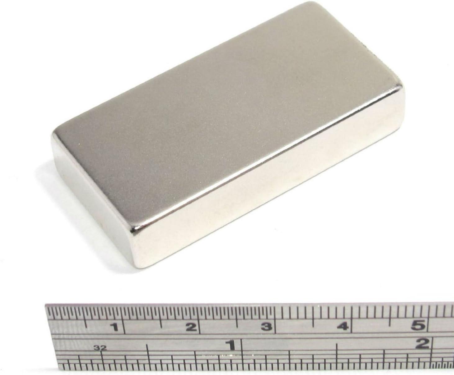 AOMAG/® Forte Rare Earth n/éodyme N52 Bar Magnet Bloc 50 x 25 x 10 mm