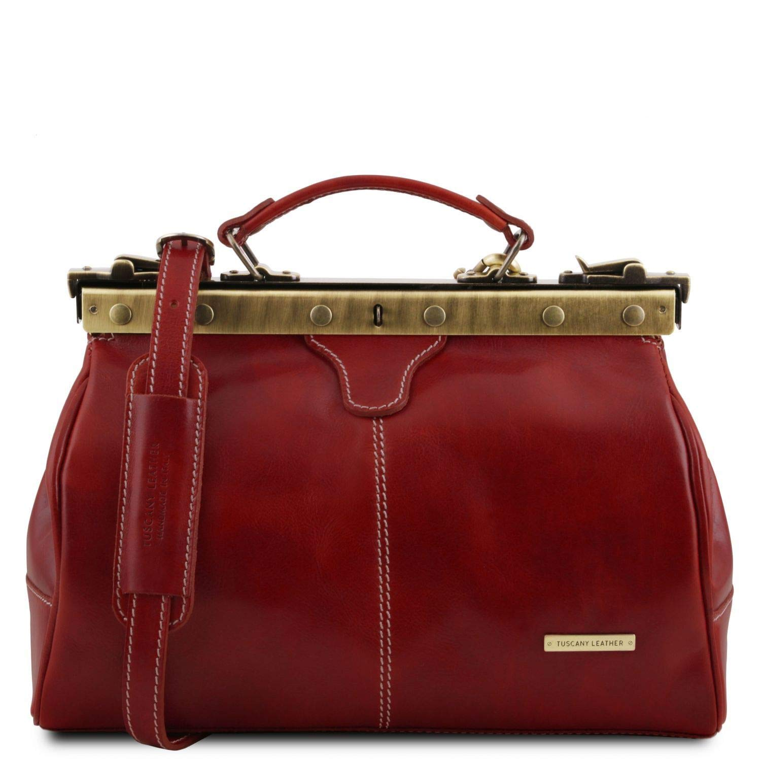 Tuscany Leather Michelangelo Mallette infirmière rétro en cuir Marron 38_1_1