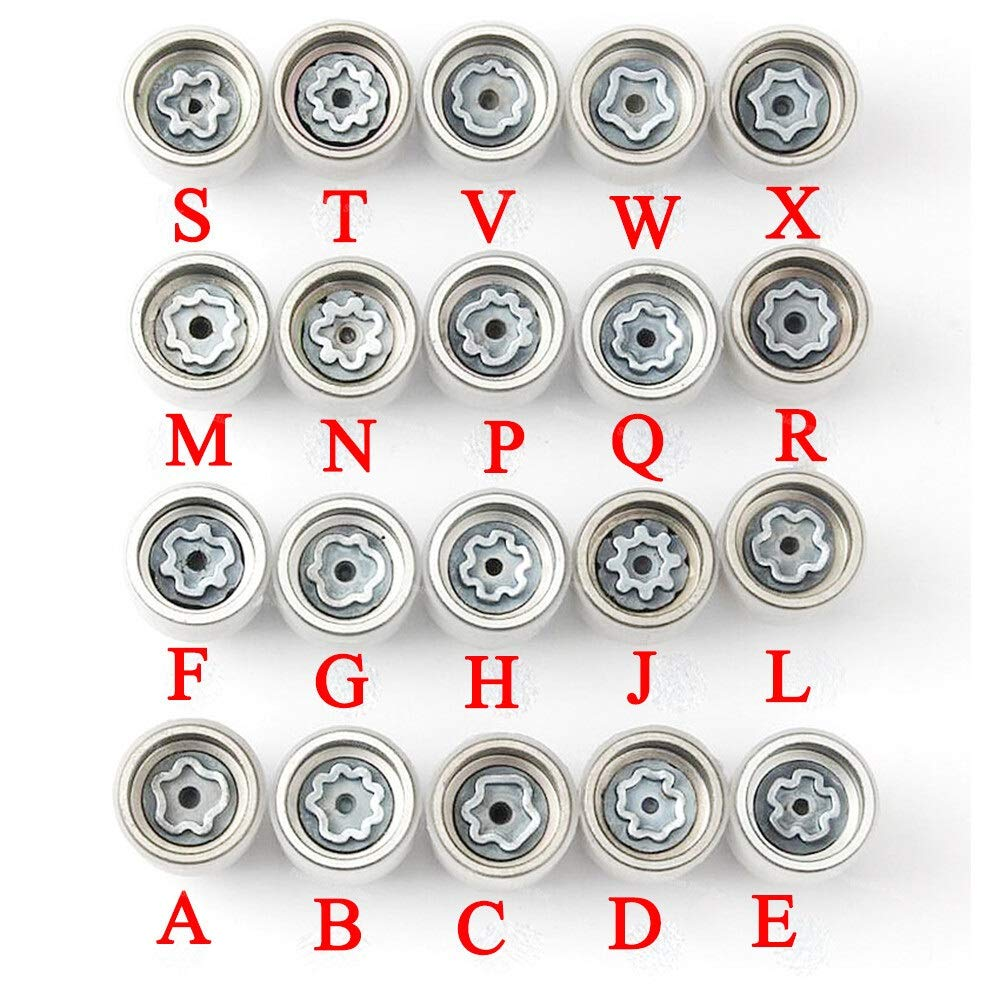 Color Name : R X-xiazhi,luntai 1pcs neum/áticos Antirrobo Tornillo Herramienta de desmontaje Llave de la Manga for Audi A3 A1 A5 A4L A6L Q5 Q3 A7 A8 TT R8