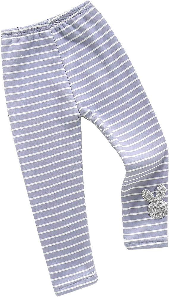 Kids Girls Toddler Winter Warm Fleece Leggings Stretchy Thermal Trousers Pants