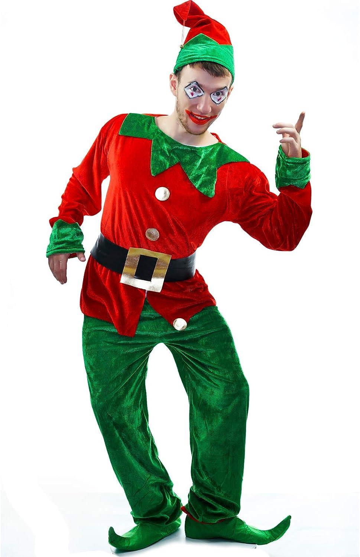SEA HARE Disfraz de Duende navideño para Hombre: Amazon.es ...