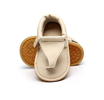 Hard Sole T Style Summer Floral Baby Sandals 11 Colors Hot Sale Pu Leather Baby Moccasins