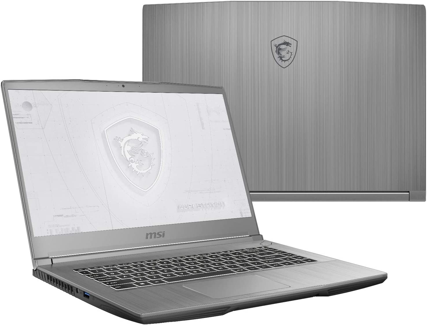 "MSI WF65 10TH-1201 (i7-10750H, 64GB RAM, 512GB NVMe SSD, Quadro P620 4GB, 15.6"" Full HD, Windows 10 Pro) Workstation Laptop"