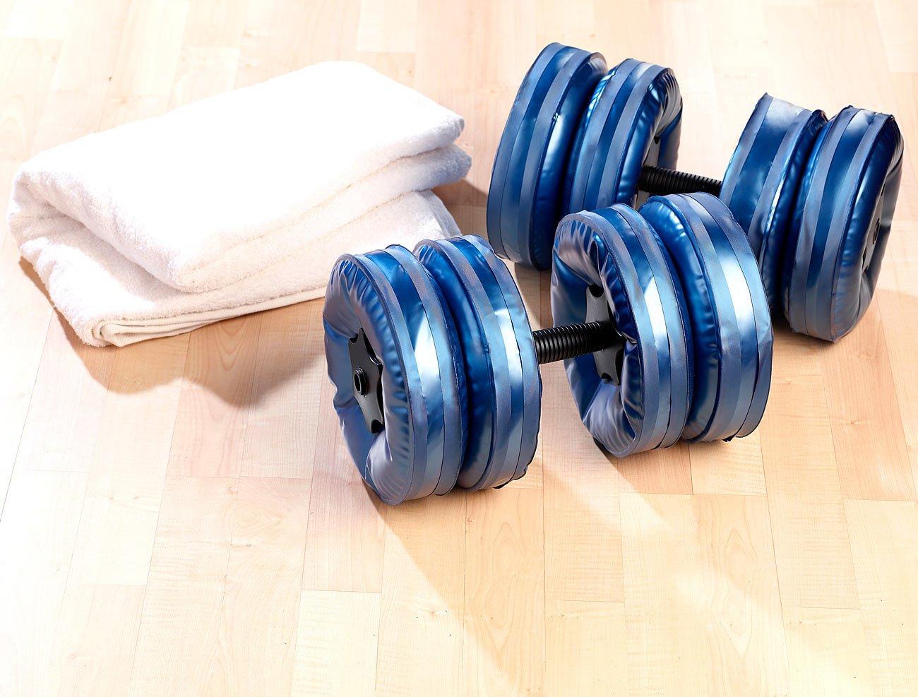 PEARL sports Befüllbare Hanteln - Juego de 2 pesas de agua (capacidad máxima de 8 kg por mancuerna): Amazon.es: Deportes y aire libre