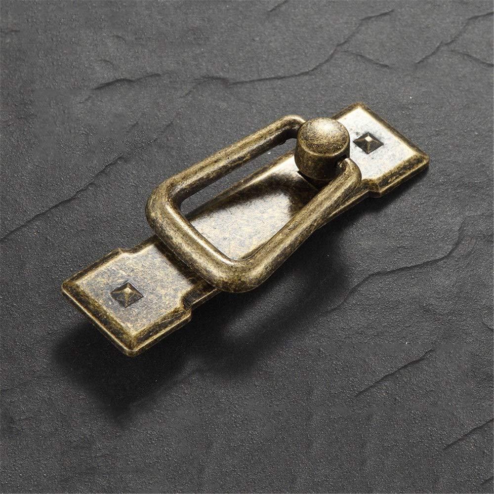 Negro DLSMB-HO Estilo Vintage Estilo r/ústico 4 Unidades Talla /única Color Bronce Antiguo//Negro Tiradores de Metal para cajones