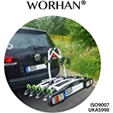 WORHAN® Bike Cycle Carrier Rack Towbar Tow Ball Mounted Full LED Lights Premium Model FA4
