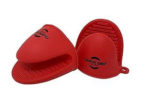 Premium Silicone Mitts for Instant Pot (1Pair) Heat Resistant Anti-scald Mini Mitts
