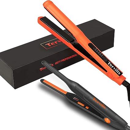 Amazon Com Terviiix Flat Iron Set 3 10 Inch Small Flat Irons For Short Natural Hair 1 Inch Titanium Silk Press Flat Iron Hair Straightener Bundle Health Personal Care