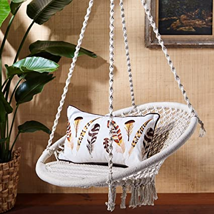 Superb Twou0027s Company 51568 Out Of Africa Macrame Hanging Chair
