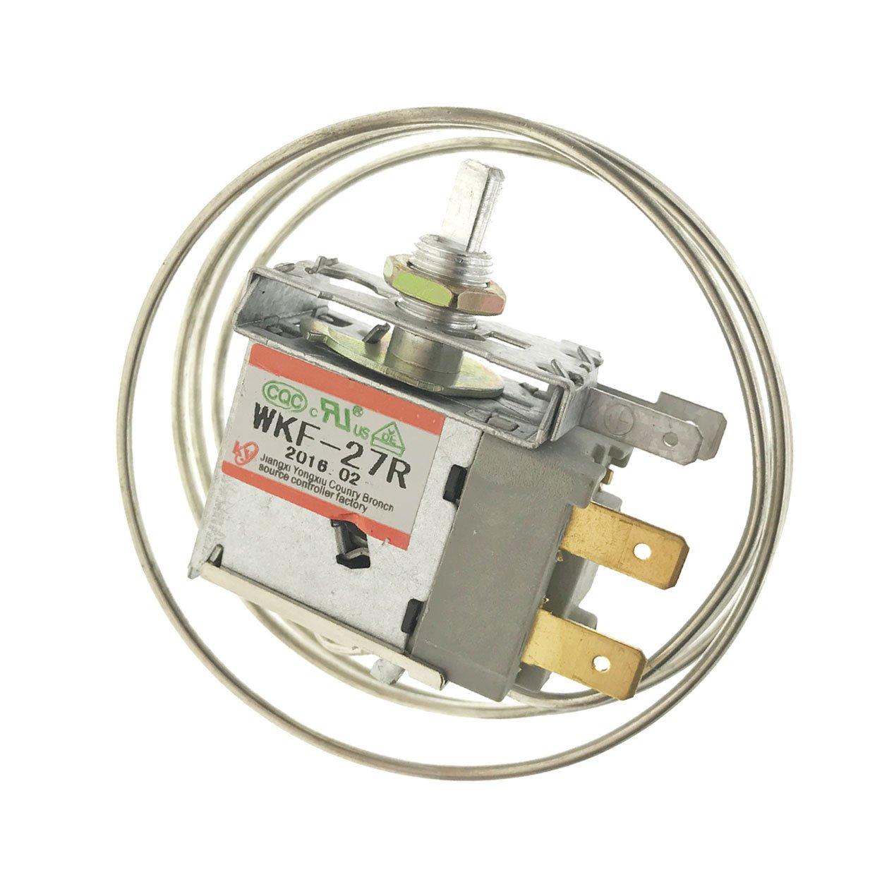 Saim AC 250V 6A 2 Pin Terminals Freezer Refrigerator Thermostat WKF-27R SX00009