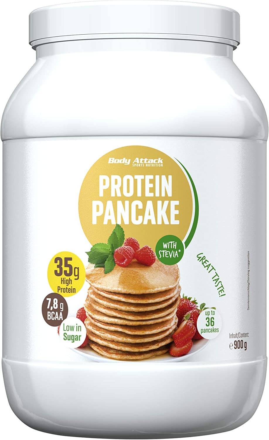 Body Attack 900g Protein Pancake Sweetened with Stevia by Body Attack