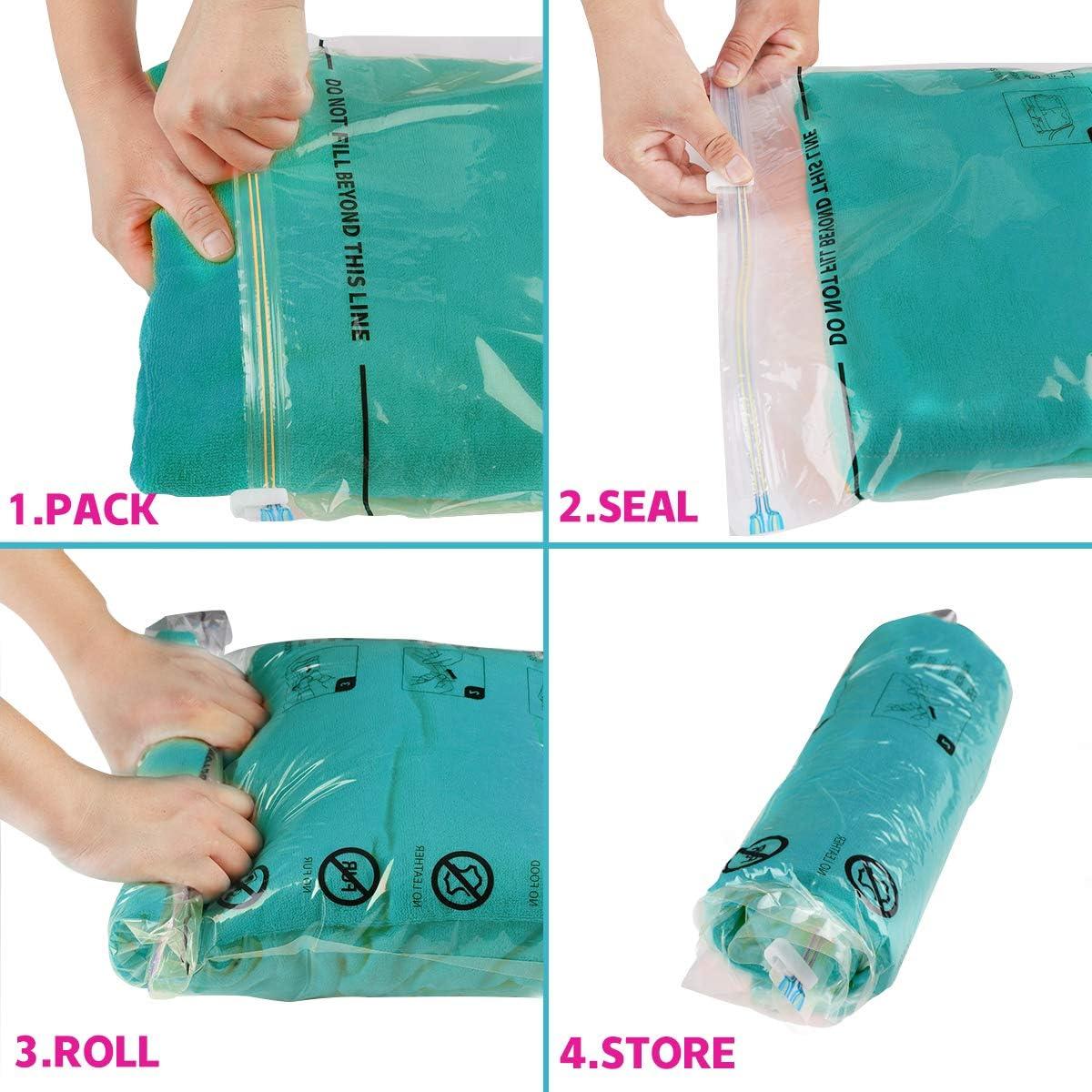 3 Small 3 Medium 3 Large 3 Jumbo /… Eono Essentials 12-Pack of Premium Vacuum Compression Bags with Hand Pump