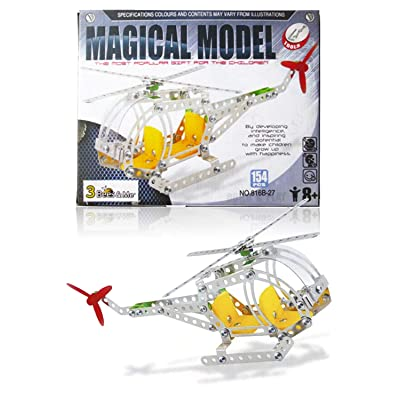 3 Bees & Me STEM Helicopter Building Toy Kit - Educational Construction Model Kit for Boys and Girls Age 8 9 10 11 12 Years Old - Unique and Fun Gift for Older Kids Age 8 and Up: Toys & Games