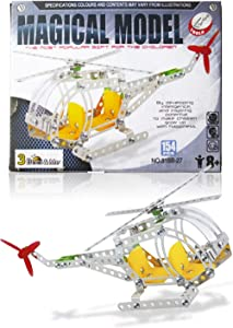 3 Bees & Me STEM Helicopter Building Toy Kit - Model Kit for Boys & Girls Age 8 to 12 Years - Unique