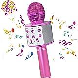 PANFREY Micrófono Karaoke Bluetooth,micrófono inalámbrico ,Micrófono Karaoke Portátil para KTV,Portátil Inalámbrica Micrófono