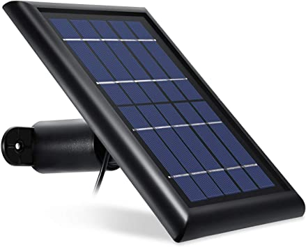 Wasserstein Argus 2 Pro Security Camera Solar Panel Outdoor Power Charger Black