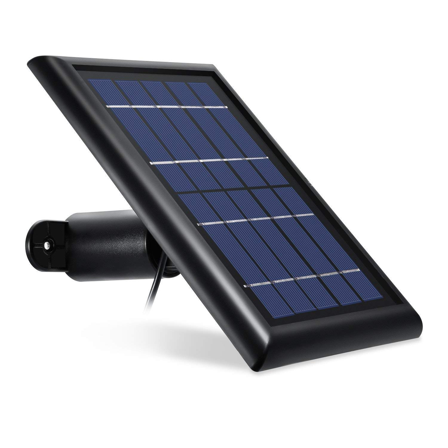 [Updated Version] Wasserstein Arlo Solar Panel Compatible with Arlo Pro, Arlo Pro 2 - Power Your Arlo Surveillance Camera continuously (Black) by Wasserstein