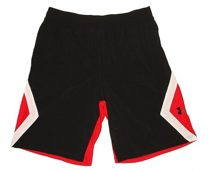 94e29e1205 Under Armour Mens UA Boom Bangin Basketball Shorts Red White Black ...