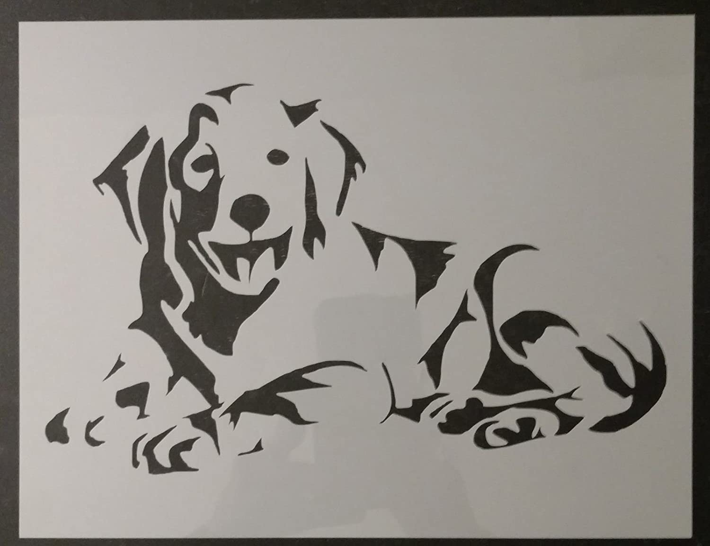 OutletBestSelling 再利用可能な丈夫なゴールデンラブラドールLAB Retriever Dog 27.94cm x 21.5cm カスタムステンシル B07H3966BT