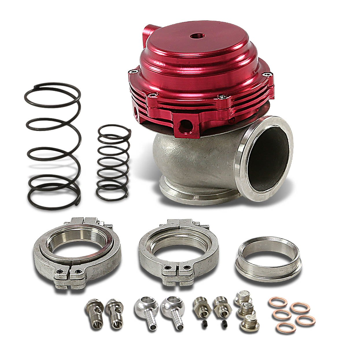 Red 44mm Water Cooled External Turbo Manifold Wastegate DNA Motoring