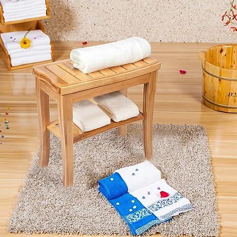 Wondrous Amazon Com Unine Bamboo Shower Bench Seat Wooden Spa Stool Theyellowbook Wood Chair Design Ideas Theyellowbookinfo