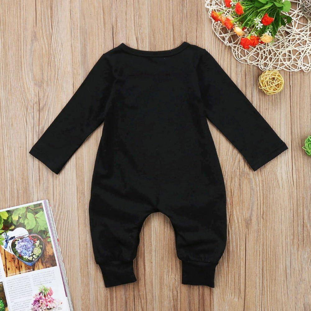 Strampler Schwarz Moms Little Boy Mamas Kleiner Junge Druck Langarm Strampler Kleidung PDYLZWZY Baby Jungen 0-24 Monate
