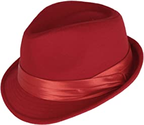 25726dd4545e6 Kenny K Men s Dressy Faux Felt Fedora Red
