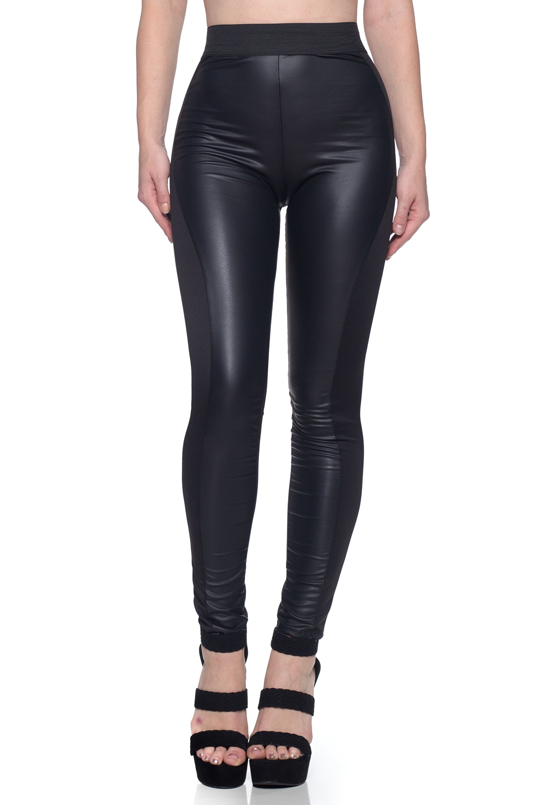 J2 Love Made in USA Front Faux Leather Moto Legging (up to 5X) by Cemi Ceri (Image #1)