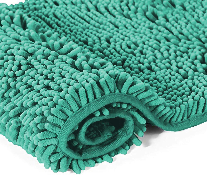PETTI Artigiani Italiani Alfombra Antideslizante Ba/ño S/úper Absorbente y Suave Verde 50x80 100/% Made in Italy