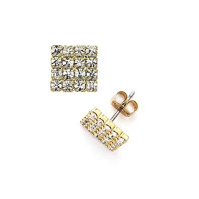 2acbccbf40555 Amazon.com: 14K Gold, Rose Gold, Black Rhodium, or Rhodium Plated 16 ...