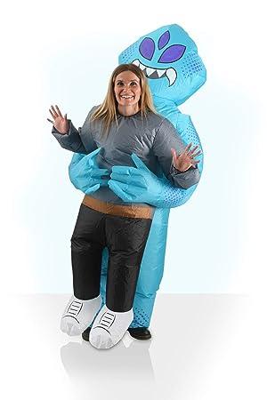 AirSuits Disfraz Unisex Inflable Alienígena Elegante con Ventilador Ideal para Halloween, Festivales y Fiestas