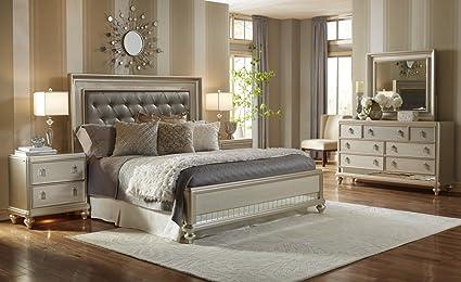 Amazon.com: Samuel Lawrence Diva Bedroom Set with Bed, Dresser ...