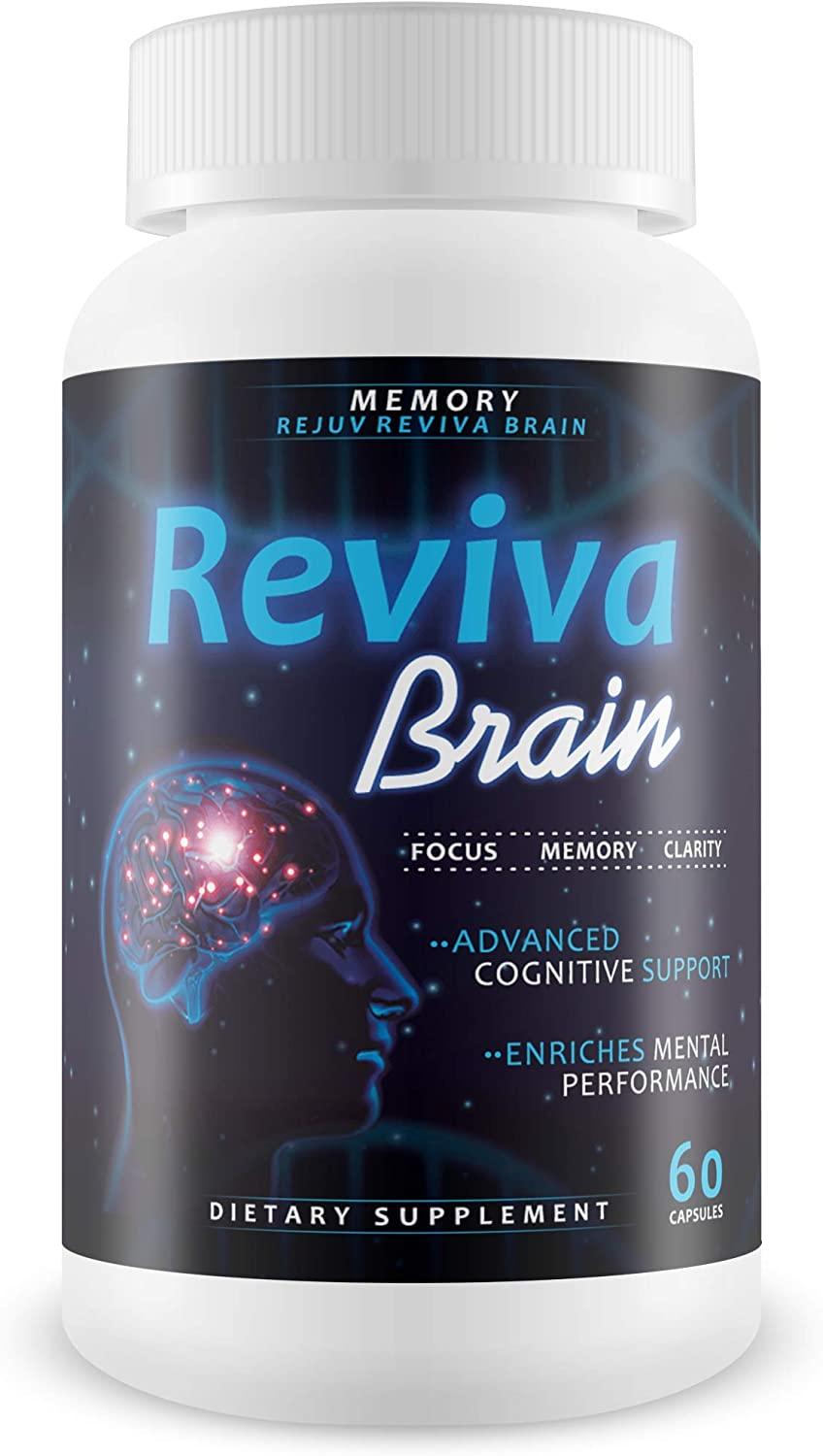 Reviva Brain Memory Rejuv – Advanced Cognitive Support – Enriches Mental Performance – Focus – Memory – Clarity – Nootropic Brain Pills – Mental Energy and Precision