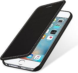 StilGut Premium Book Type, housse en cuir pour iPhone 6/6s, en noir nappa