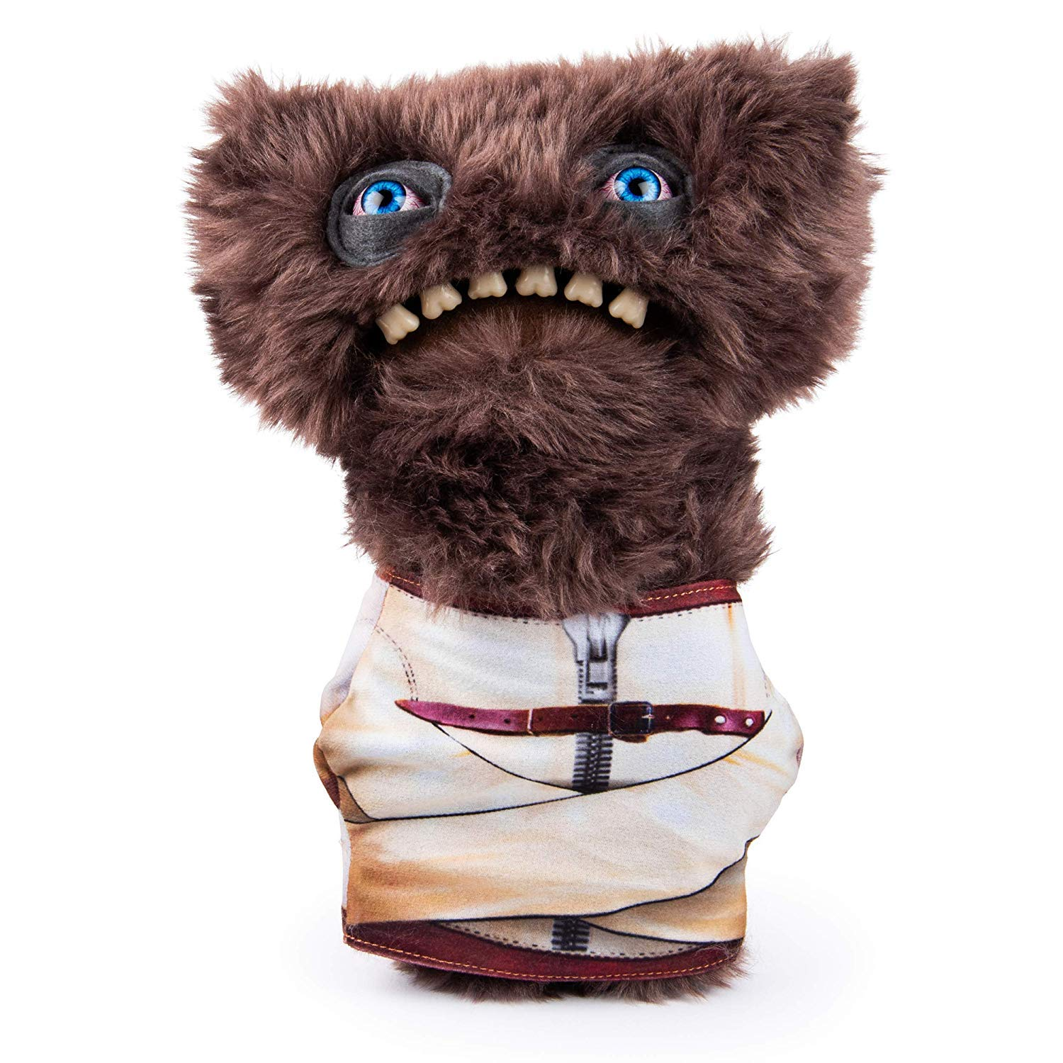 Fugglers, Funny Ugly Monster, 9 Inch Gnawing Terror (Brown) Plush Creature with Teeth, for Ages 4 and Up by Fugglers