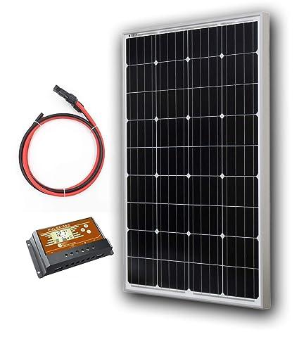100 Watt Monocrystalline Solar Panel Kit with 10 feet Extension Wire