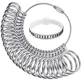 Ring Sizer Gauge Set with Plastic Ring Sizer Belt Metal Finger Measurement Tools US 0-13 Standard Finger Sizing Tool for…