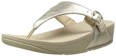 be4de153e0a6ce FitFlop Women s The Skinny Leather Toe-Thong Sandals