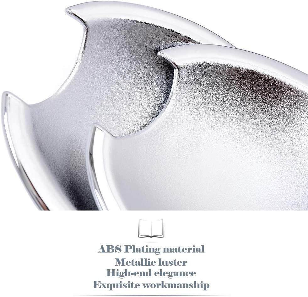 Kadore ABS Chrome Centre Grille Front Bumper Grill Cover Trims for Nissan Qashqai Dualis 2007-2009 8PCS//