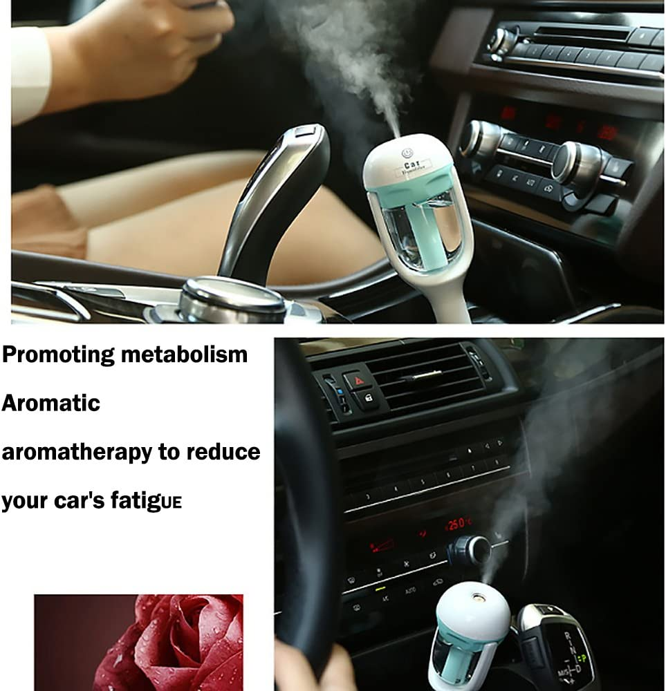 Rrunzfon Car Humidifier with USB Charger Essential Oil Aroma Diffuser Mist Fresh