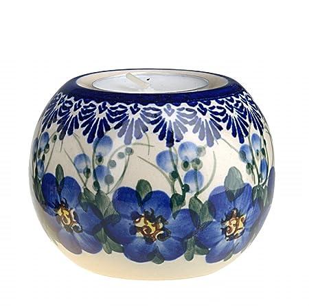 Classic Boleslawiec Polish Pottery Hand Painted Ceramic Gravy Boat and Stand 0.7 Litre 128//129-U-003