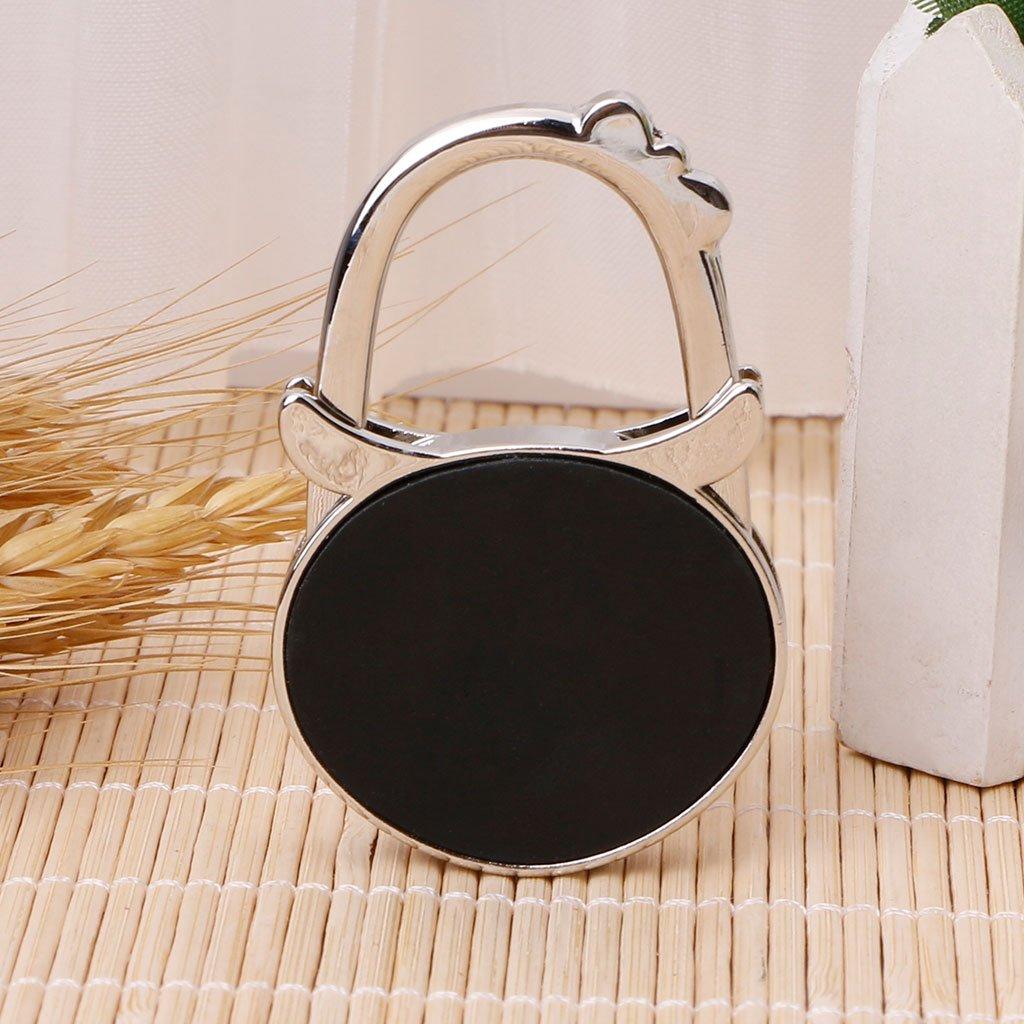 Milue Colored Foldable Table Handbag Hook Owl Shaped Bag Hanger Purse Metal Holder 01#