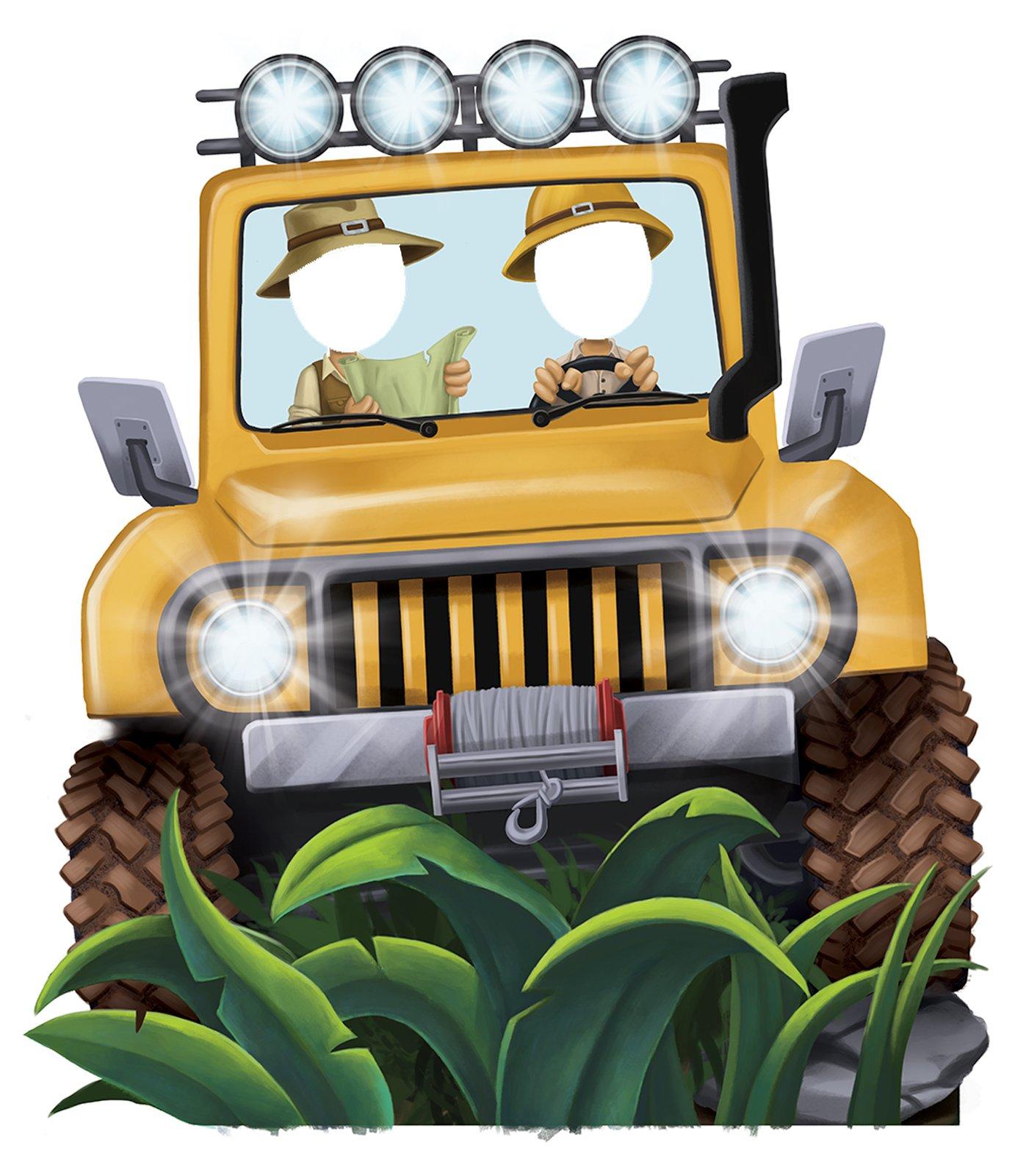 BirthdayExpress Jungle Room Decor - Jeep Cardboard Standup