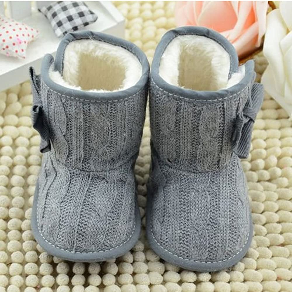 CdyBox Little Baby Fleece Fur Knit Snow Boots Infant Warm Winter for 0-18 Months: Clothing
