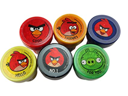Amazon 6 Piece Angry Bird Stamp Set