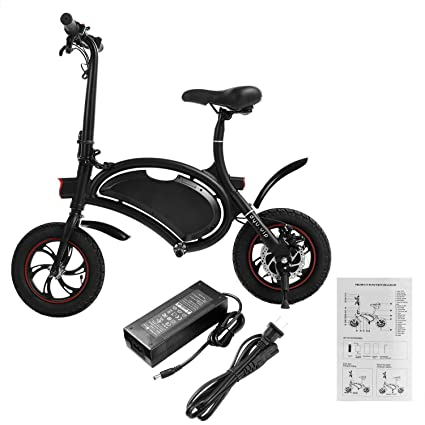 Folding Electric Bike Cindere Portable Bicycle With 20km Range Bluetooth Speaker App Ipx5