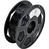 YOYI 1.75mm Flexible TPU Filament 3D Printer Filament Diameter Tolerance +/- 0.03 mm, 0.8KG Spool, 1.75 mm TPU Filament (Black)