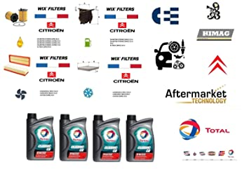 Filter Service Kit for Wix 1 6 HDi + 4 Litres total Oil 5