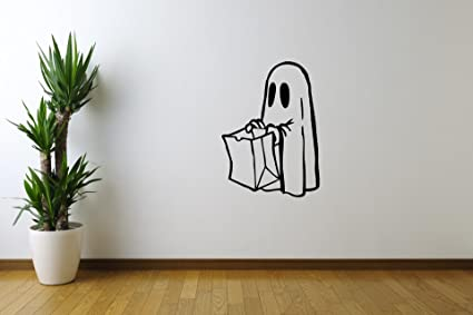 Amazon Com Funny Halloween Vinyl Wall Decals Funny Little Ghost